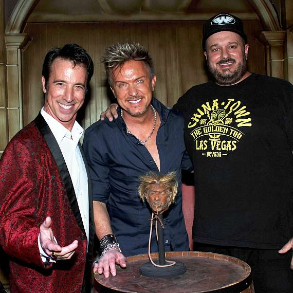 Tony Felicetta, Zowie Bowie and Branden Powers at The Golden Tiki