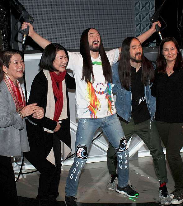 Steve Aoki Unveils His Wax Figure at Madame Tussauds Las Vegas DJ Experience Launch