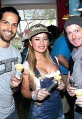 "Photo Gallery: Ben & Jerry's ""Free Cone Day"" Benefit for CASA Foundation with Ricardo Laguna, Chippendales, David Goldrake, Dixie Miranda, Flavor Flav, Zowie Bowie, Michelle Johnson, Jaime Lynch, John Di Domenico and More"