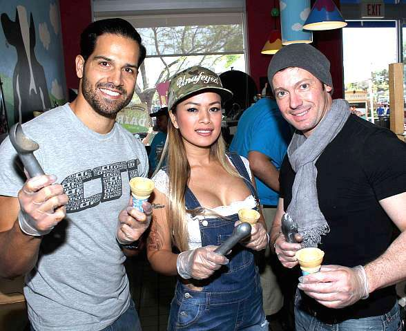 "Photo Gallery: Ben & Jerry's ""Free Cone Day"" Benefit for CASA Foundation with Ricardo Laguna, Chippendales, David Goldrake, Dixie Miranda, Zowie Bowie, John Di Domenico and More"