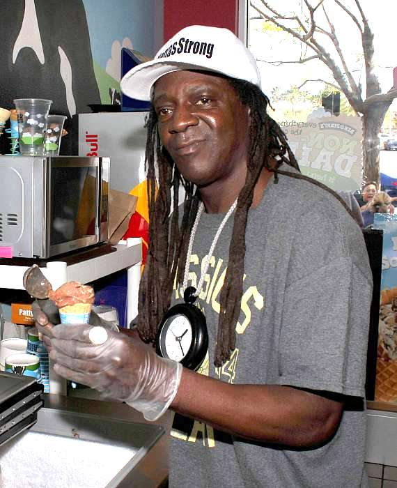 Rapper Flavor Flav at Ben & Jerry's