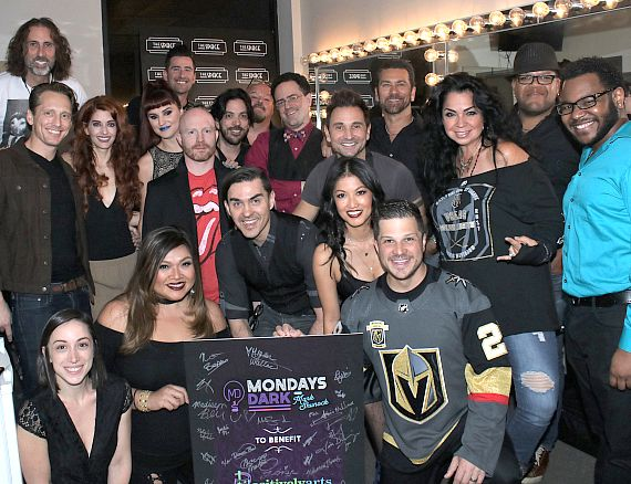 Cast of Mondays Dark for Positively Arts Foundation benefit on May 21, 2018