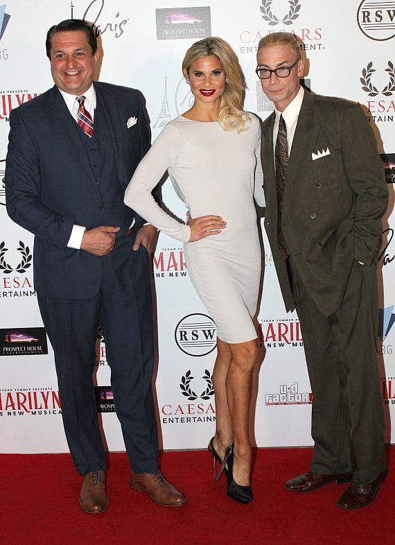 "Douglas ""Lefty"" Leferovich, Dani Elizabeth and Murray SawChuck at ""Marilyn! The New Musical"""