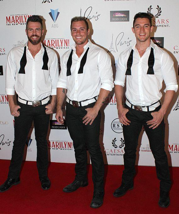 "Cast of Chippendales at ""Marilyn! The New Musical"""