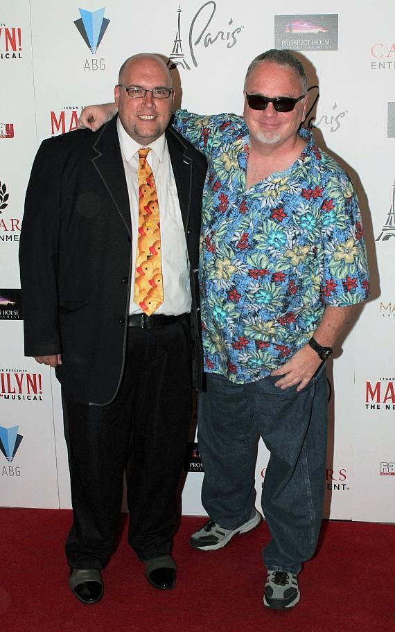 "Adam London and Kevin Burke at ""Marilyn! The New Musical"""
