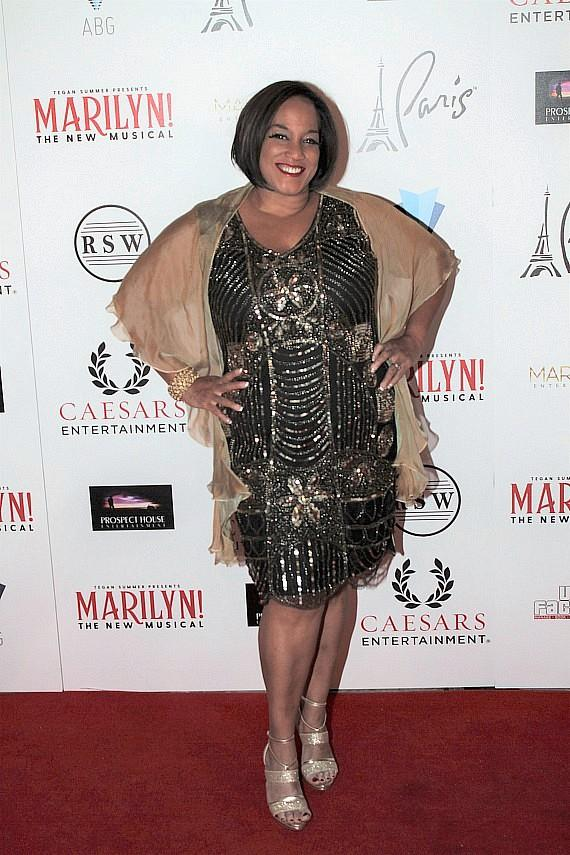 "Michelle Johnson at ""Marilyn! The New Musical"""