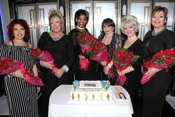 Cast of Menopause at 5000th Show Celebration