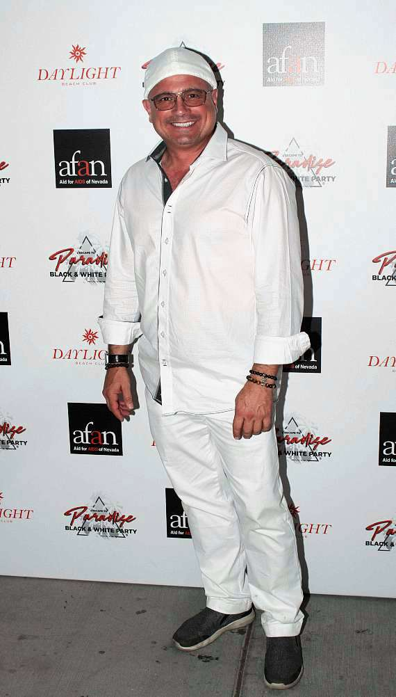 John Di Domenico (Trump & Austin Powers impersonator) at AFAN Black & White Party