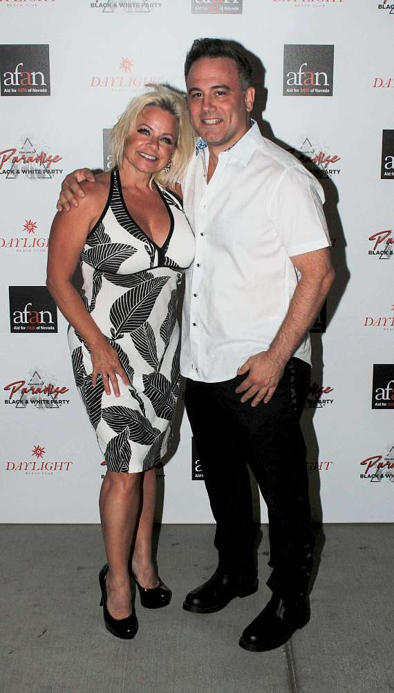 Kelly Vohnn & Mark Messin at AFAN Black & White Party