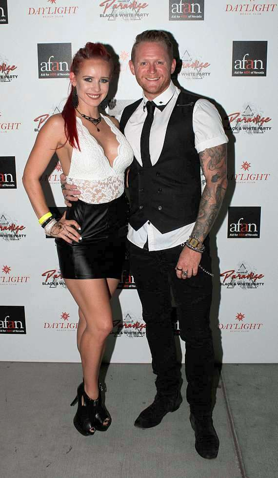Dai Richards (Tenors of Rock) & Olivia Nicole (X Country) at AFAN Black & White Party