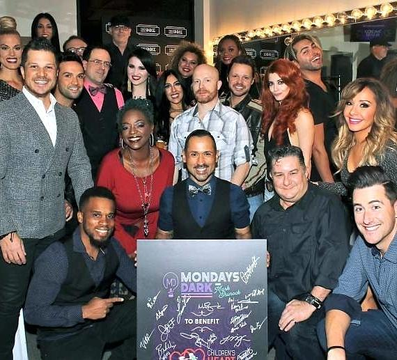 Mark Shunock with Nov. 5 cast of Mondays Dark benefit for Children's Heart Foundation