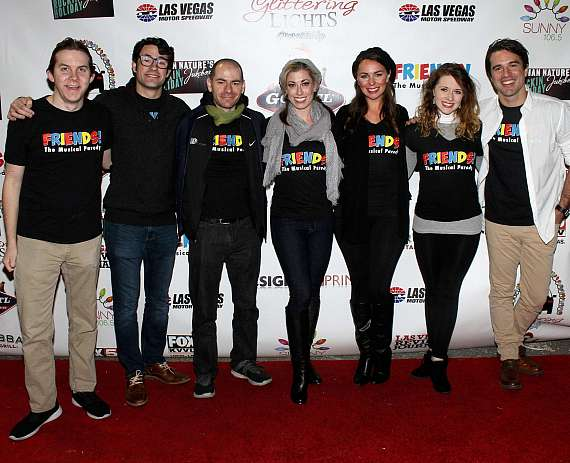 "Cast of ""FRIENDS - The Musical Parody"" arrive at Glittering Lights"