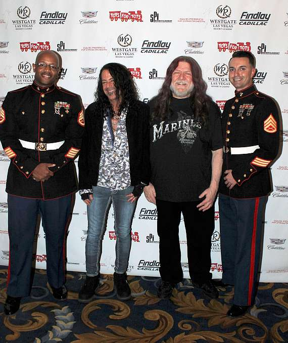 """Michael T. Ross and Robby Steidhardt at """"Toys for Tots"""" Charity Benefit in Las Vegas"""