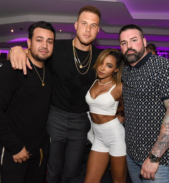 Tinashe and Blake Griffin with Frankie Delgado (L) and Ryan Labbe (R)