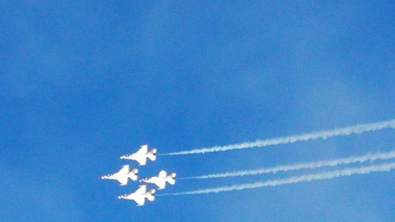Thunderbirds during their last air performance of the year