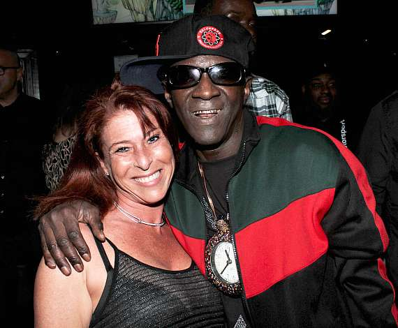 "Heather King of ""Tanked"" with Flavor Flav at Club 172 at The Rio Las Vegas"