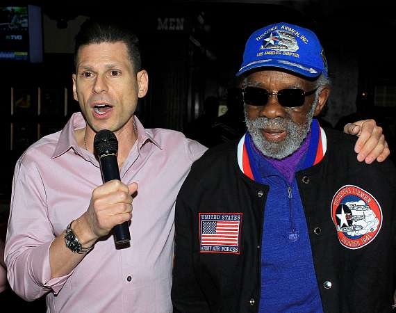 Mike Hammer with Lt. Col. Theodore Lumpkin, 99 year old WWII War Veteran