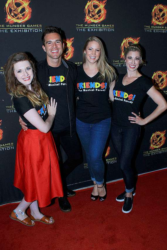 """Cast of """"Friends: The Musical Parody"""" at The Hunger Games grand opening"""