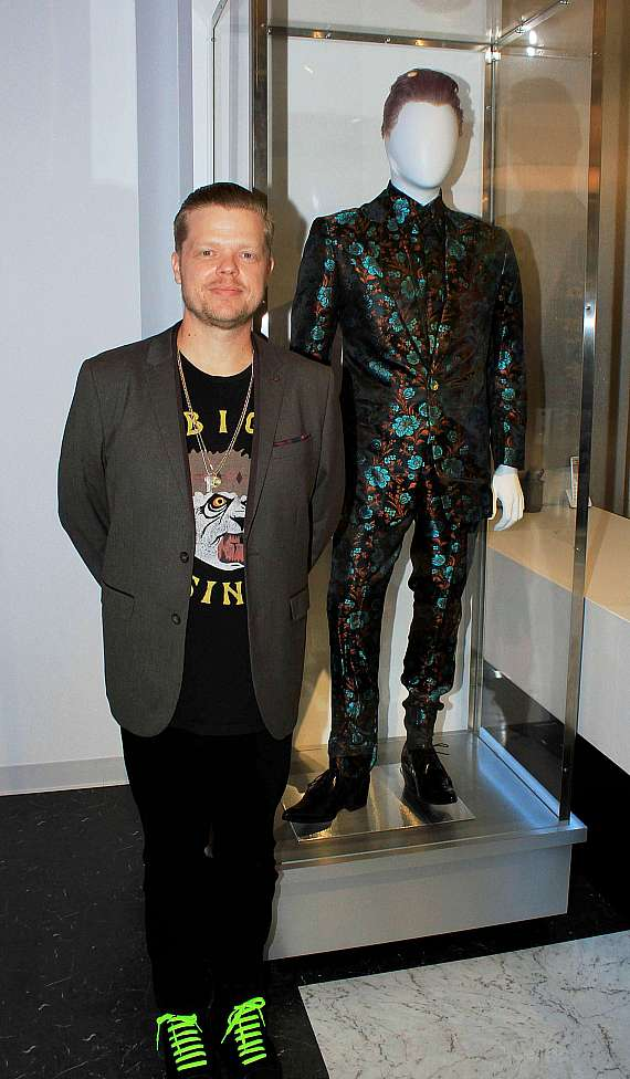 """Actor Elden Henson of """"The Hunger Games"""" with costume"""