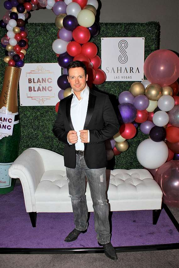David Goldrake at Blanc de Blanc grand opening at Sahara Las Vegas