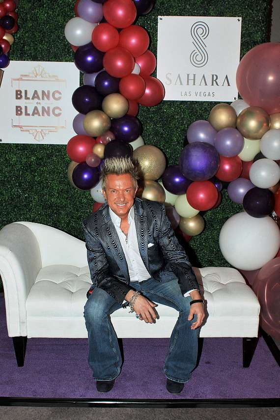 Zowie Bowie at Blanc de Blanc grand opening at Sahara Las Vegas