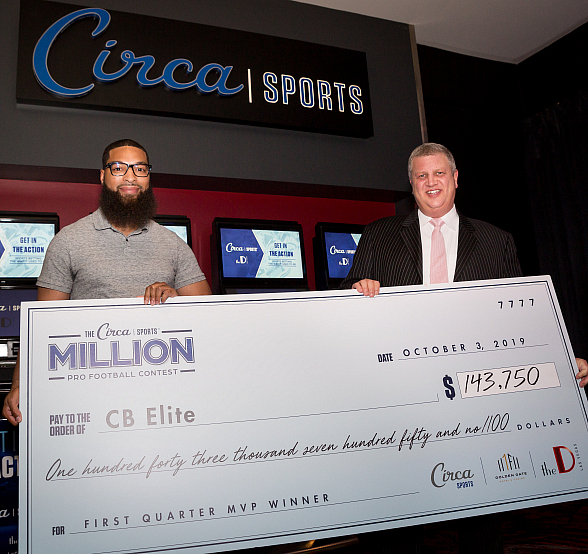Circa Sports Awards $143,750 to First Quarterly Winner of Million Dollar Pro Football Contest