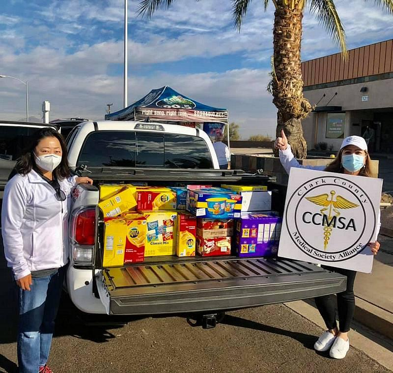Serving our Kids Foundation Hosted Contactless Food Drive with Sponsors Clark County Medical Society Alliance, Southwest Medical, OptumCare and SOS Radio
