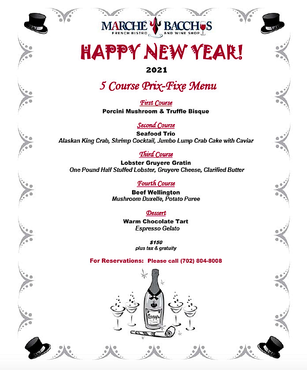 Ringing in the New Year with Marche Bacchus French Bistro & Wine Shop