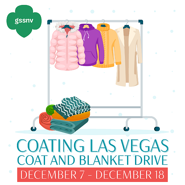 """Help Girl Scouts of Southern Nevada and Super Cleaners """"Coat Las Vegas"""" Now Through Dec. 18"""