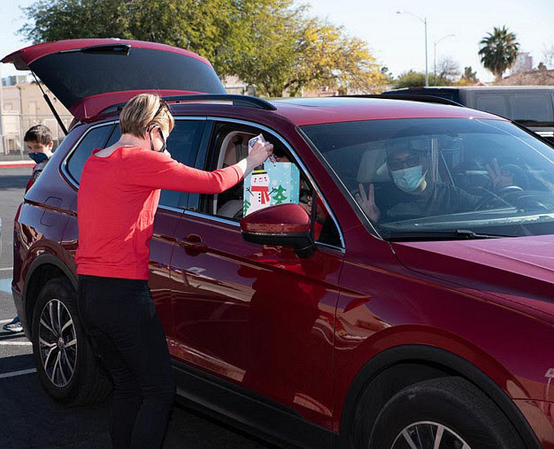 Non-Profit CORE Treated 70 Families to Gifts, Food, Santa and More at its Drive-Thru Holiday Express