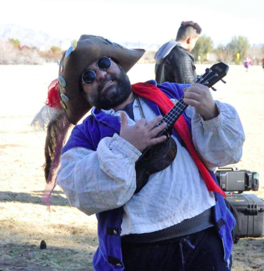 Person dressed in pirate costume for Las Vegas Pirate Fest