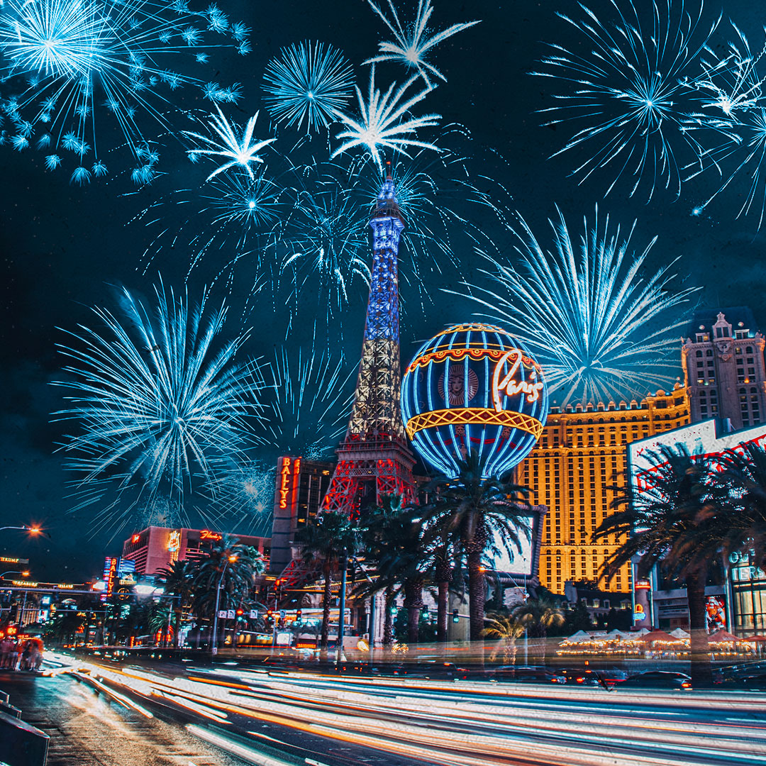 Fourth of July over the Strip