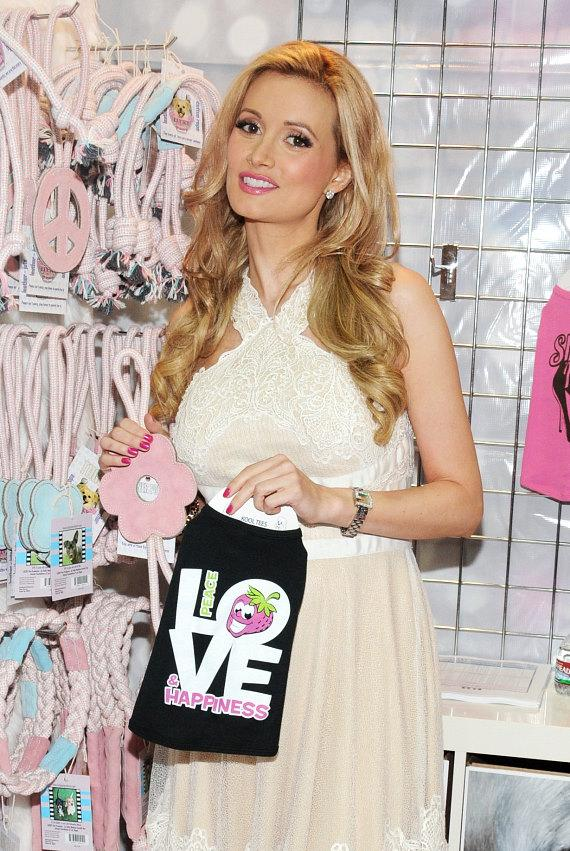 """Holly Madison"""" shows her pet products at SuperZoo 2012 Convention at Mandalay Bay"""