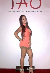 Model/Dancer Dixie Miranda Celebrates Birthday at Sake Rok and TAO Nightclub in Las Vegas