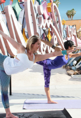 Neon Museum in Las Vegas Announces Dates for Hot Yoga in the Boneyard