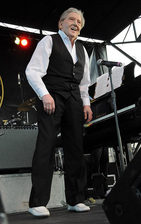 Jerry Lee Lewis performs at the Viva Las Vegas Car Show