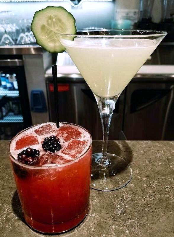 Specialty cocktails will be Blackberry Bramble & Cucumber Sunrise