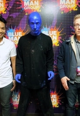 "Actor Anthony Rapp from Broadway Musical ""Rent"" Attends Blue Man Group Las Vegas"