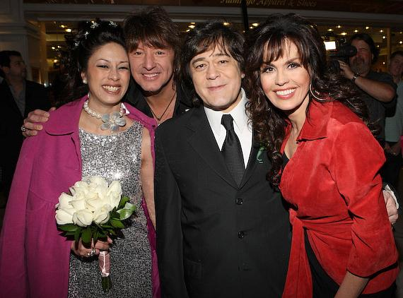 John's wife Lana, Richie Sambora, John Titta and Marie Osmond