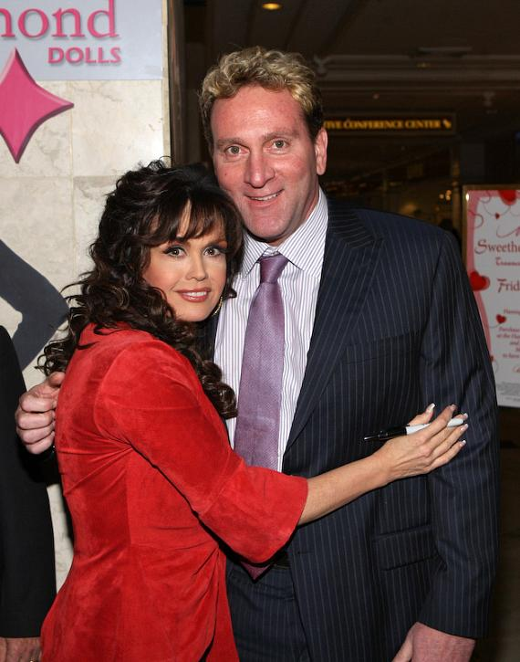 Marie Osmond and Flamingo President Don Marrandino