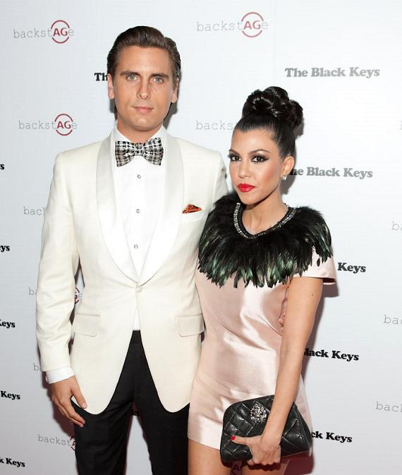 Kourtney Kardashian with Scott Disick at Marquee Nightclub