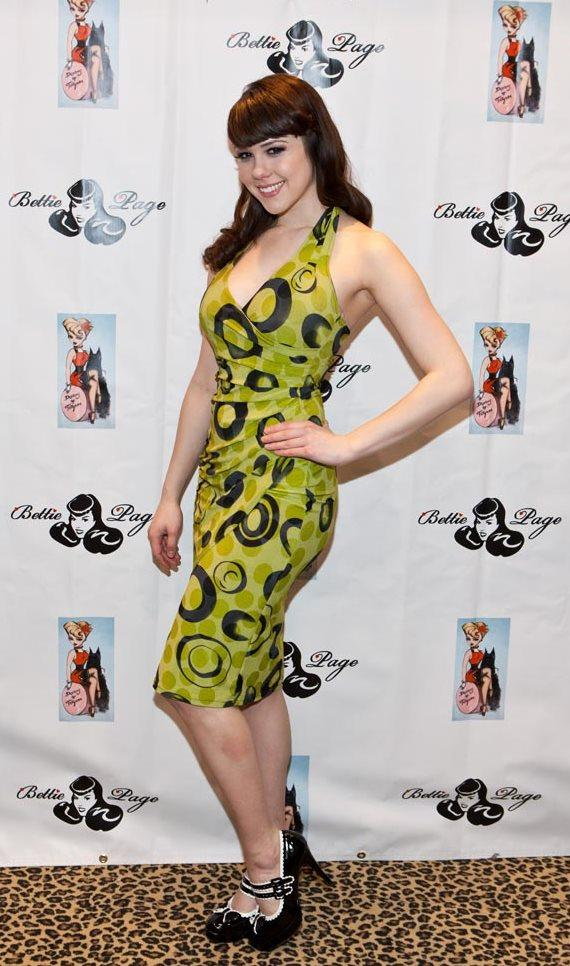 Claire Sinclair at BettiePage Clothing at MAGIC