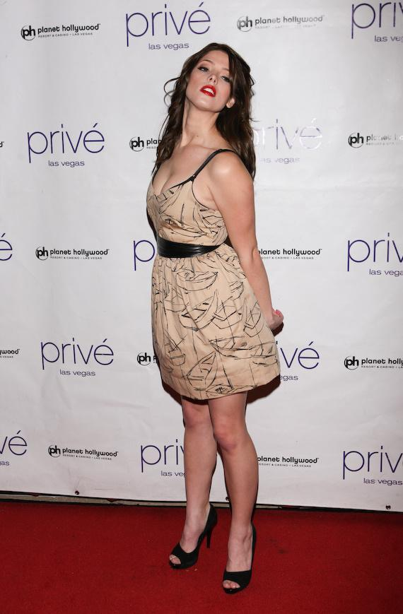 Ashley Greene celebrates her 22nd birthday at Privé Las Vegas