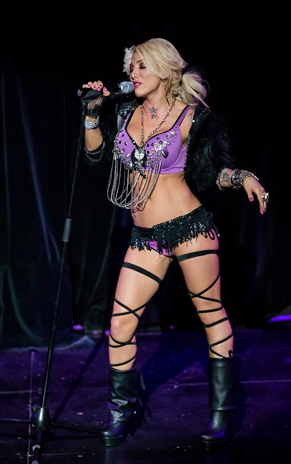 Daisy De DeLaHoya stars in iCandy The Show at the Saxe Theater in Las Vegas