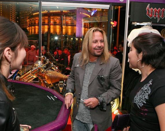 Vince Neil greets fans at Vince Neil Ink