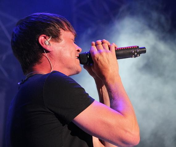 """3 Doors Down singer Brad Arnold at """"Scars And Stripes"""" at Downtown Las Vegas Events Center"""