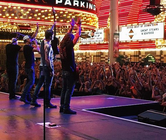 3 Doors Down with a large crowd at the D on Fremont Street Las Vegas