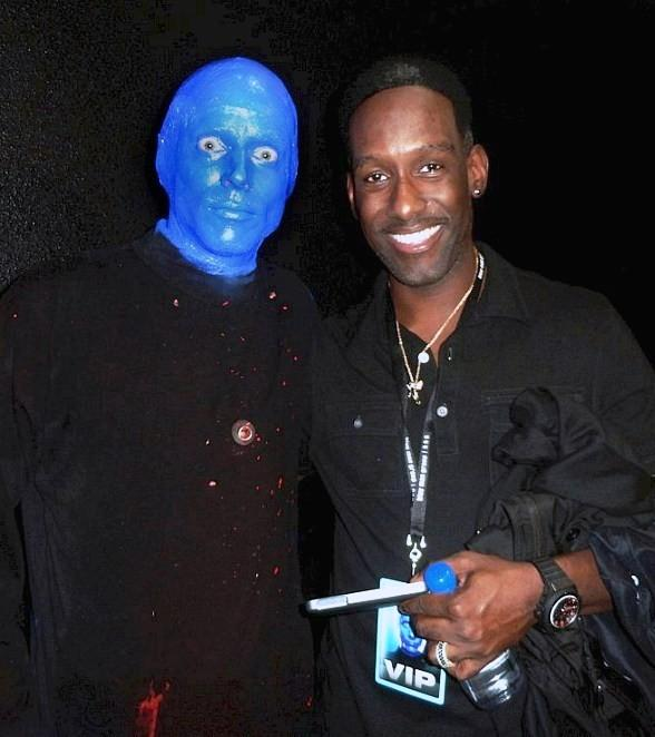Boyz II Men Singer Shawn Stockman Attends Blue Man Group at Monte Carlo Resort and Casino