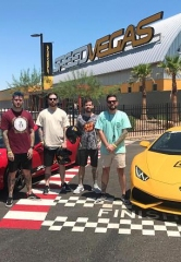 Band Members from 'A Day To Remember' Drive Supercars at SPEEDVEGAS in Las Vegas