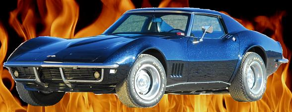 Slay Cancer with Dragons' in a '68 Stingray L79 Corvette